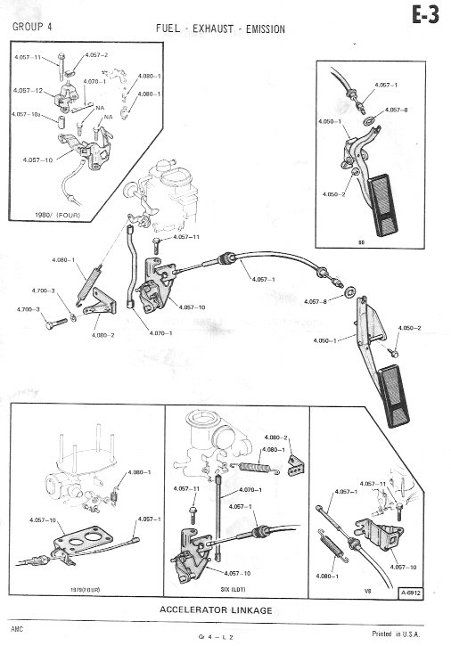 throttle cable where does it go amc eagle den forum from the amc eagle den s eaglepedia